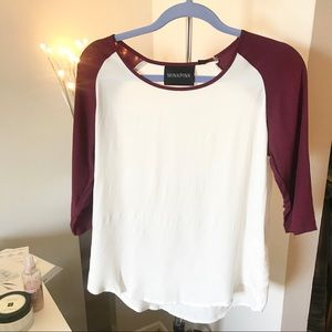MinkPink two tones T shirt